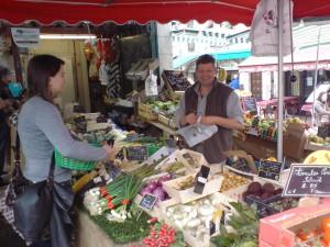 Marknad i Vence