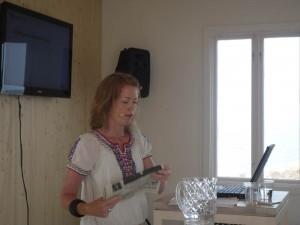 """Anna Carlsson, KfS, presenterar """"Rapport från en slaskhink"""""""