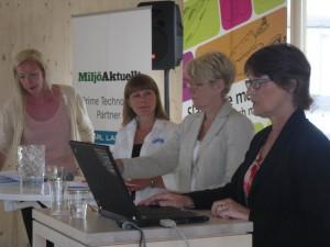 Panelen (Sofia Arkelsten - Riksdagen, Karin Lexén - SIWI och Inger Andersson - SLV)