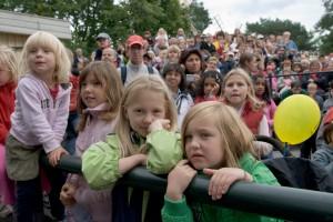 Många barn på förra årets Familjedag på Skansen