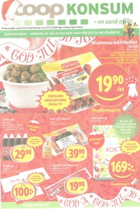 Coop annons i DN 23/12 2009