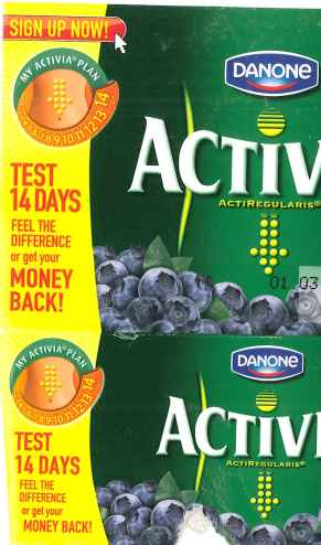 Danone Activia money back
