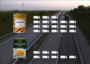 Antal lastbilar plåtkonserv eller tetror